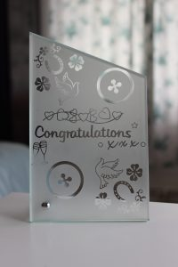 Crystal Glass Plaque