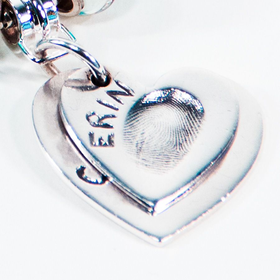 Heart Ascending Fingerprint Pendants