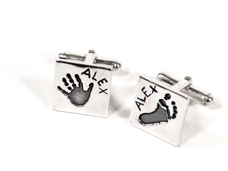 Square imprints cufflinks