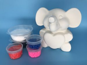 Foam Clay Kit-Elephant With Heart H10cm W10.5cm D9cm