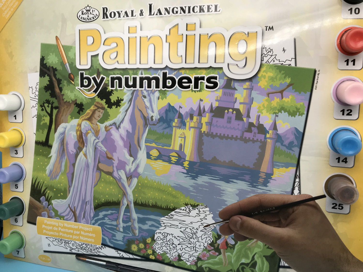 painting by numbers fairy castle