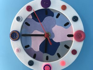 Clock kit with buttons, made up